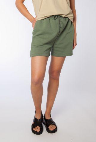 donker groene sweat shorts met tunnelkoord holly shorts