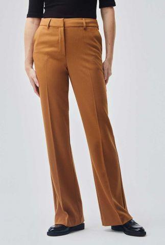 bruine pantalon met flared broekspijp hypo pants