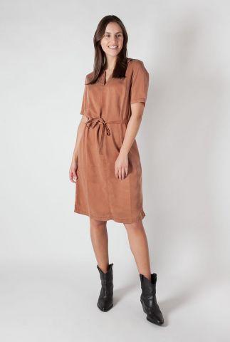 zachte terracotta bruine jurk van lyocell brook id0120