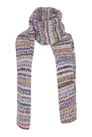 gekleurde sjaal van alpaca wol smy1292
