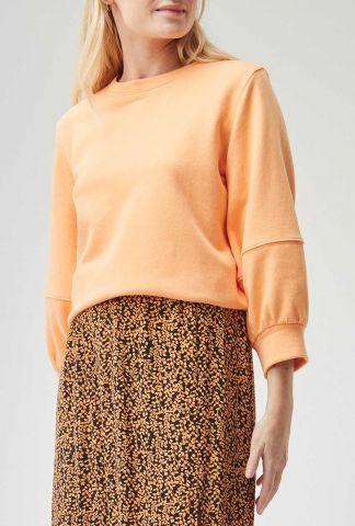 dunne oranje sweater met 3/4 mouwen ivanka sweat