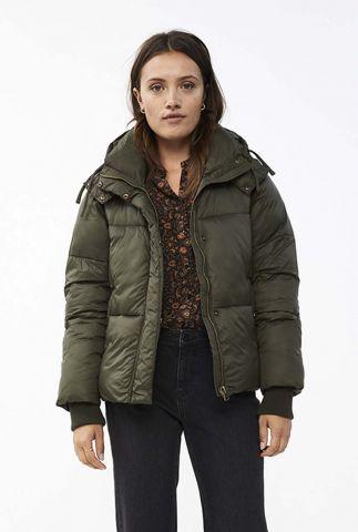 olijf groene gewatteerde jas jackie short coat