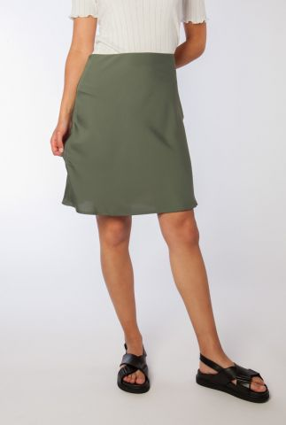 legergroene satijnen rok van gerecycled polyester janie skirt
