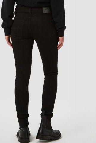 high waist slim jeans van biologisch katoen juno high k111101102