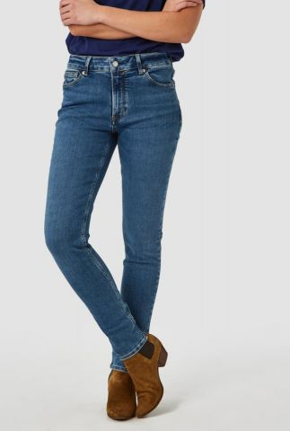 mid blauwe high waisted slim jeans juno high k200101140