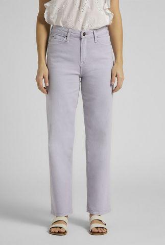 lila straight jeans met high waist wide leg lilac l30sqhct