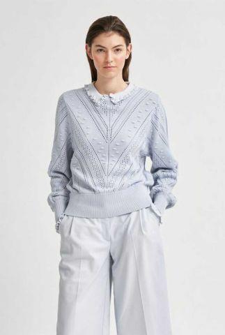 pointelle gebreide trui met hoge hals julia knit o-neck 16078355