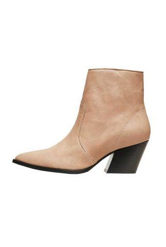 beige leren enkellaarzen julie leather boot 16076072