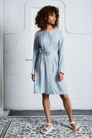 jurk met lurex glitters strepen en ceintuur allyson dress nywd278