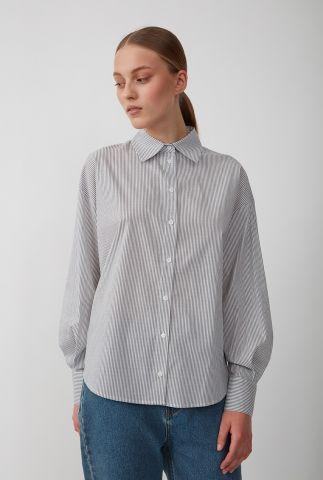 witte blouse van biologisch katoen met strepen dessin clayton shirt