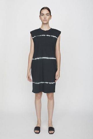 zwarte loose fit jurk met tie-dye dessin beijing dress tiedye