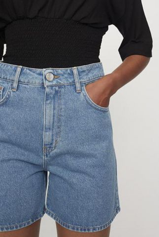 denim high waist short van biologisch katoen star shorts