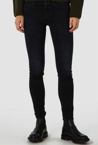 zwarte slim fit jeans van biologisch katoen juno high k111101104