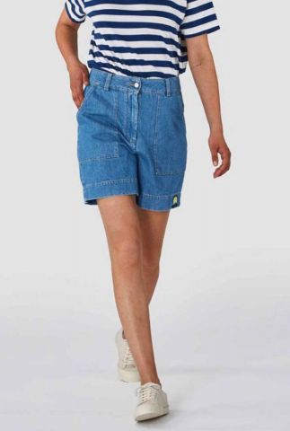 high waist denim short van bio katoen bangja k200101606