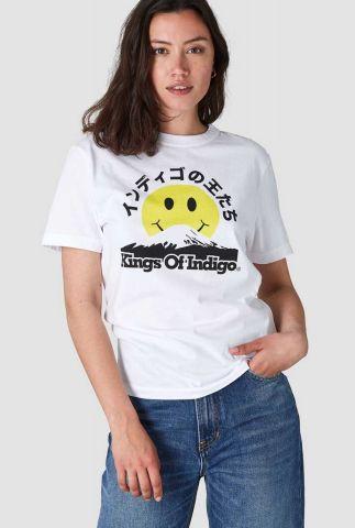 wit t-shirt met gele smiley miro k200106035