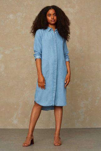 lichte denim blouse jurk van lyocell priscilla K200107035