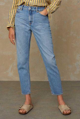 lichte straight fit jeans met high waist caroline K210101202