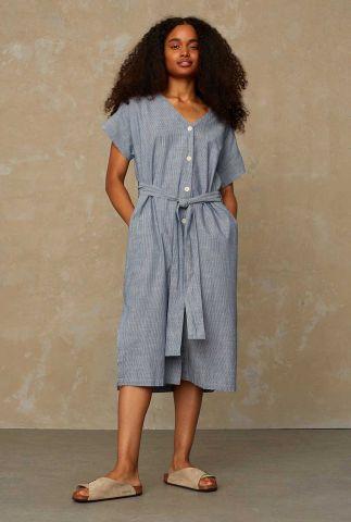 lichte denim jurk met ingeweven streep dessin mia K210107015