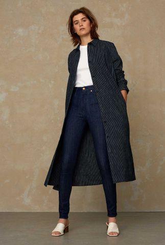 lange denim blouse jurk maggie K210107020