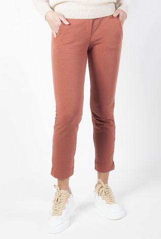 roestkleurige comfy broek met elastische band adult trouser kate