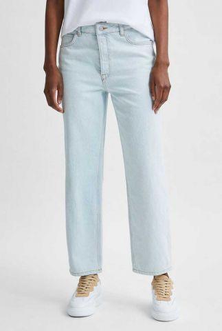 lichte blauwe straight jeans met high waist kate 16079192