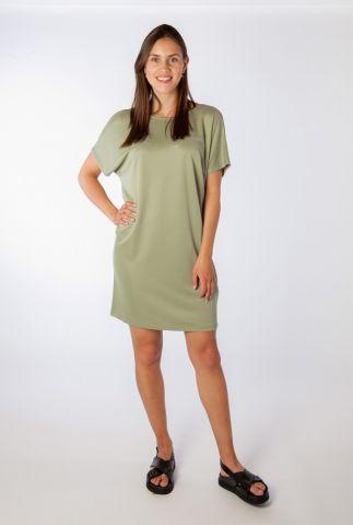 olijf groene jurk met lage rug kattie