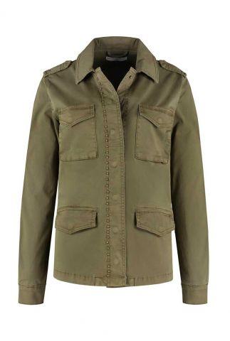 army jacket met studs en zakken kenzi jacket w20.105.1899