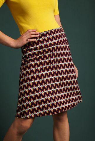 a-lijn rok met grafische all-over print border skirt namaste 05004