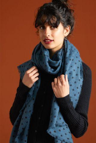 fijn gebreide sjaal met stippen dessin scarf pablo 05418