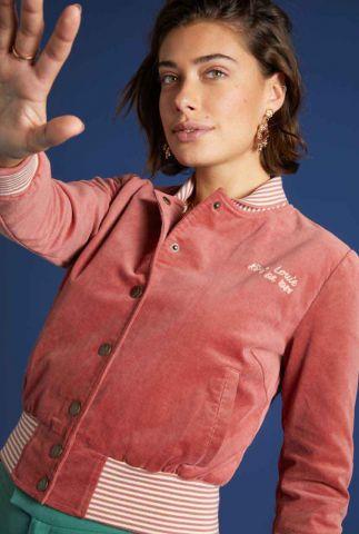 roze rib velours baseball jack cleo jacket babyrib 05977