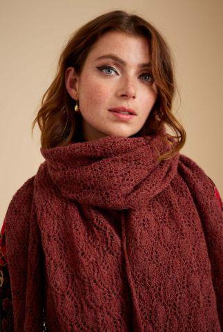 wollen sjaal met opengewerkte details ophelia 06379