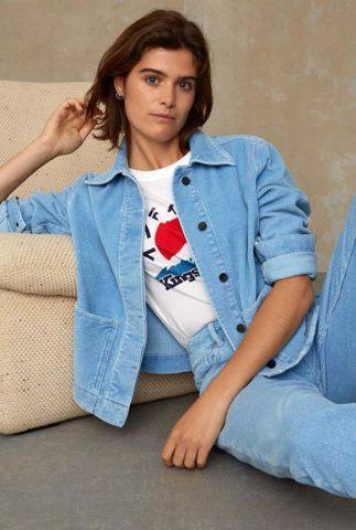 baby blauwe rib jack van biologisch katoen ota jacket K210102003
