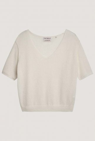 off white trui van wolmix kn soft rose
