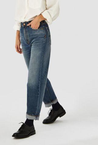 vintage blauwe high waist jeans met relaxed fit alice k200101610