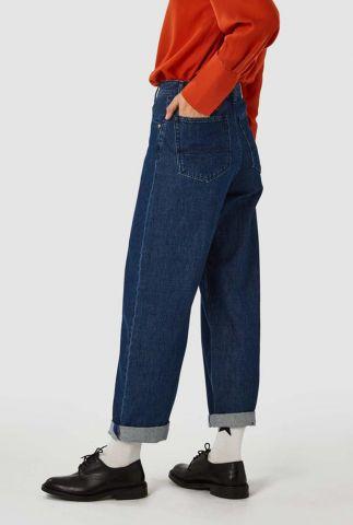 donker blauwe high waist balloon jeans leila k200701802