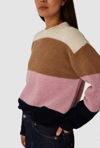 trui van wol mix met gekleurde strepen dessin may k200706005