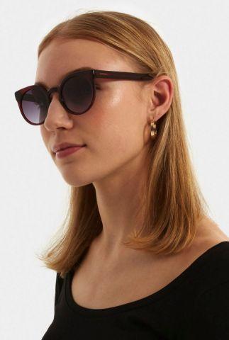 bordeaux rode zonnebril lulu burgundy kom-s2039