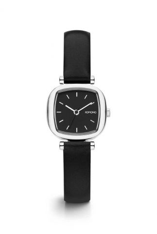 horloge met een zwarte lerenband moneypenny kom-w1235