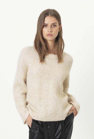 off white gebreide mohair mix trui koorb knit o-neck