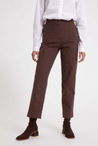 katoenen broek met rechte pasvorm korneliaa 30002341
