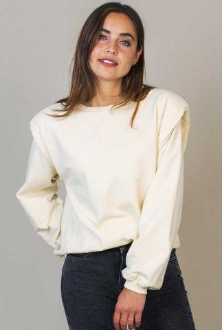 witte trui met schouder vullingen kyana w21.83.2602