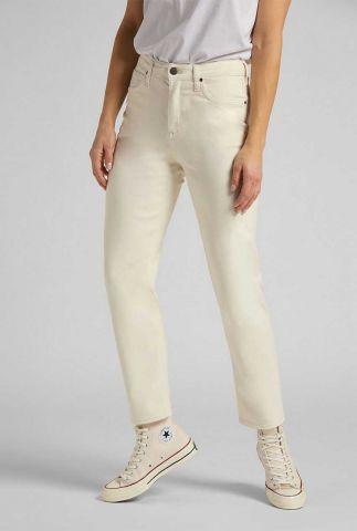 ecru kleurige straight fit jeans carol l30uqhyj