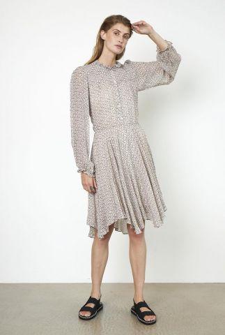 licht uitlopende jurk met grafische print lacing dress