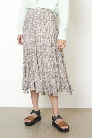 midi rok met grafische print lacing midi skirt