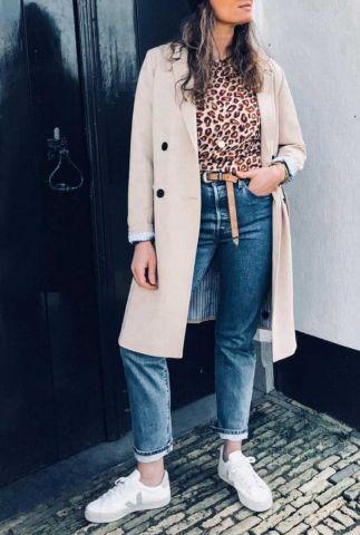 lichte trenchcoat jas met ceintuur lamar coat
