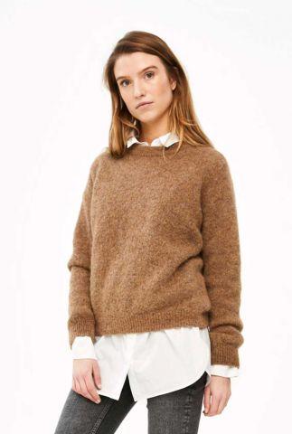 gebreide trui van alpaca mix met ribboorden lana organic pullover