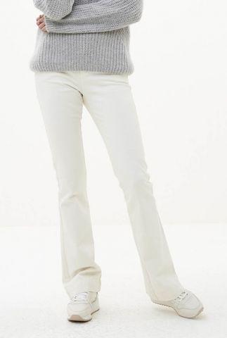 off white broek met flared pijpen leila twill pant 108003