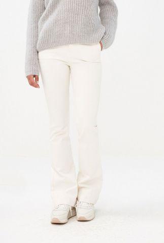 off-white flared broek met langere broekspijp leila twill pant long