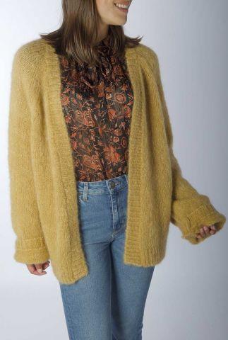 oversized openvallend vest van mohair wol lejacky