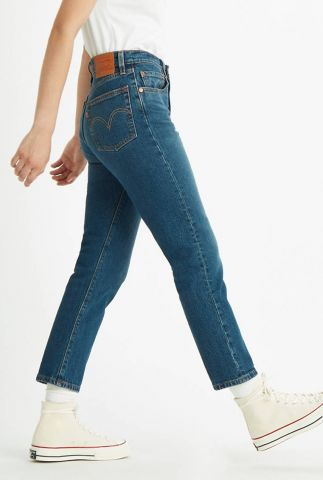blauwe high waisted 501 jeans met cropped pijpen 36200-0094